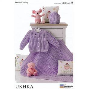 UKHKA Pattern 138 Cardigan, Hat and Blanket
