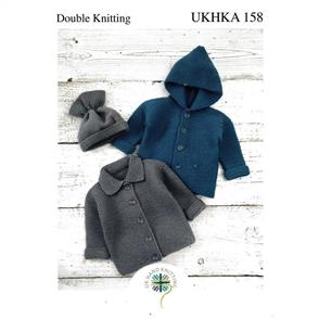 UKHKA Pattern 158 - Babies Jackets and Hat
