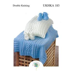 UKHKA Pattern 183 - Babies Blanket and Booties
