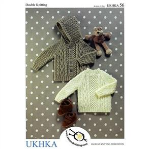 UKHKA  Pattern 56 - Pullover with back neck buttons