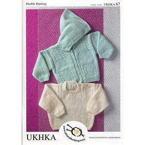 UKHKA Pattern 67 - Hooded Sweater & Cardigan