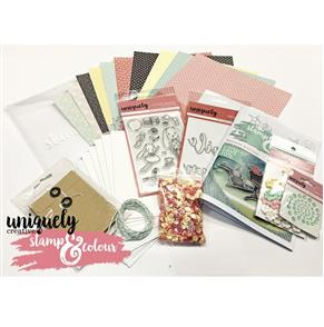 Uniquely Creative  - Whimsy Bunnies - Stamp & Colour Kit