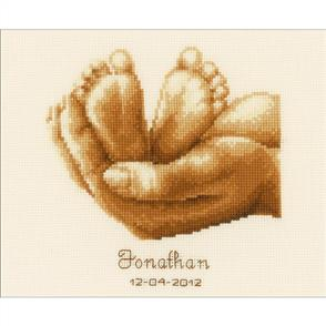 Vervaco  Little Feet Birth Record - Cross Stitch Kit