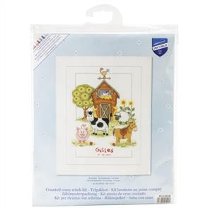 """Vervaco  Counted Cross Stitch Kit 8.75""""X11.5"""" -  At the Farm"""