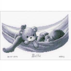 Vervaco  Baby In Hammock Birth Record Cross Stitch Kit