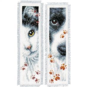 Vervaco  Cross Stitch Kit - 2/Pkg Dog & Cat Bookmarks