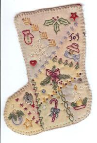 Chickadee Hollow Vintage Christmas Stocking