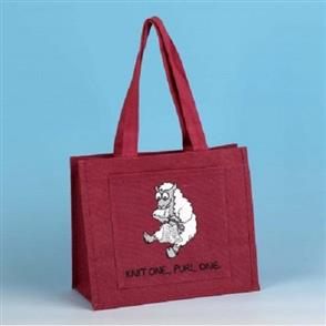 Vanessa Bee Designs  Shoulder Knitting Bag - Dark Pink
