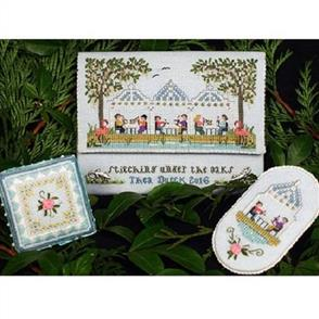 The Victoria Sampler  Stitching Under the Oaks Leaflet