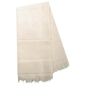"Charles Craft  Guest Towel 14 Count 12""X19.5"" - Ecru"