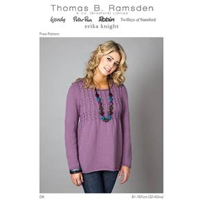 Wendy Pattern 5528 Cable Bodcie Sweater