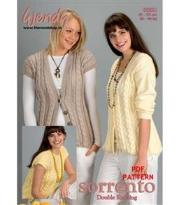Wendy Pattern 5550 Cardigan, top and waistcoat