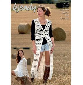 Wendy  Pattern 5663 Crochet Waistcoats