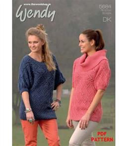 Wendy Pattern 5684 Lacy Tunics