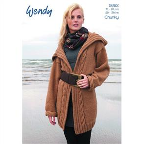 Wendy  Pattern 5692 Cable Edge Jacket