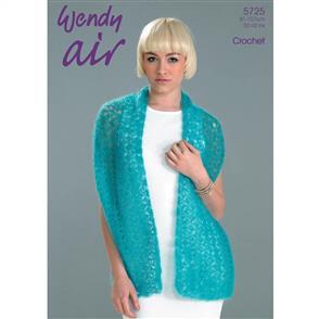 Wendy  Pattern 5725 Crochet Shawl and Collar