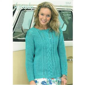 Wendy  Pattern 5767 Mesh Cable Sweater