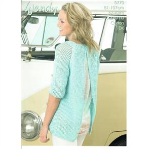 Wendy Pattern 5770 Open Back Sweater