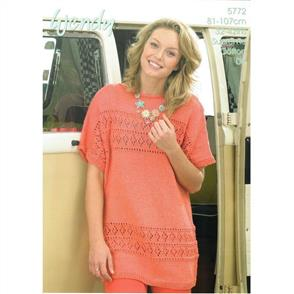 Wendy Pattern 5772 Lace Panel Short Sleeve Top