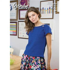 Wendy  Pattern 5878 Boat Neck Tops