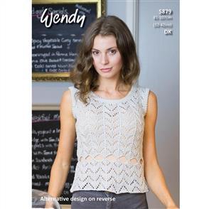 Wendy Pattern 5879 Short Sleeved and Sleeveless Keyhole Sweater