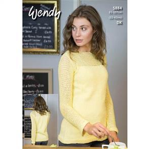 Wendy Pattern 5884 Mesh Sleeve Sweater
