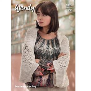 Wendy Pattern 5895 Sideways Knit Shrug and Bag