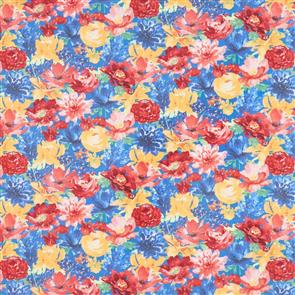 Wilmington Prints  Garden Charm - Packed Floral Blue