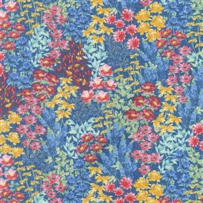 Wilmington Prints  Garden Charm - Flower Field Blue