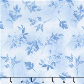 Wilmington Prints  Garden Charm - Leaves Blue