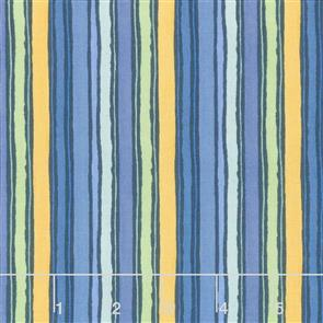 Wilmington Prints  Garden Charm - Stripe Blue
