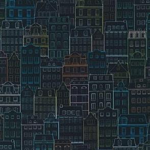 Robert Kaufman  Happy Place - WELD-19456-438 NIGHT