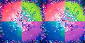 "Robert Kaufman  Bright Side - Flower Burst Bright 22"" Panel 19711"