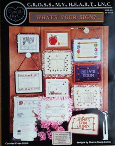 Cross My Heart Cross Stitch Chart - Whats your Sign?
