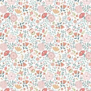 Poppie Cotton  Goose Creek Gardens, Garden Mix, White 106