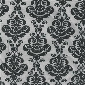 Wilmington Prints  Bliss - Damask Black on Grey