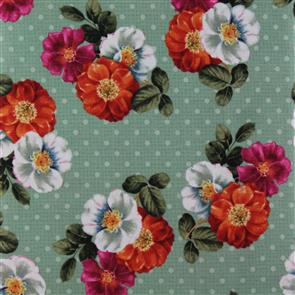 Wilmington Prints  Garden View - Wild Rose Green