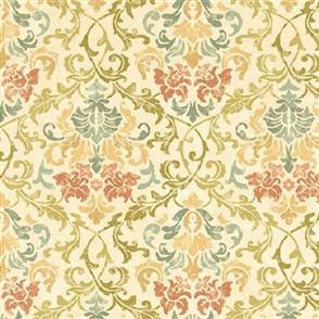 Wilmington Prints  A Ladies Diary - Floral Damask Cream