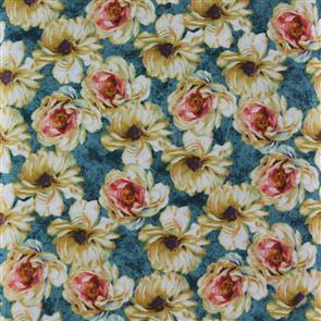 Wilmington Prints  Marche De Fleur - Packed Floral Aqua