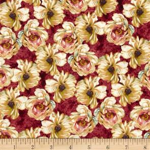 Wilmington Prints  Marche De Fleur - Packed Floral Red