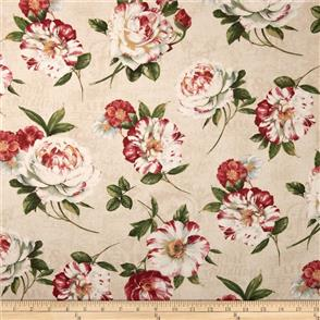 Wilmington Prints  Scentimental - Large Floral Toss Tan