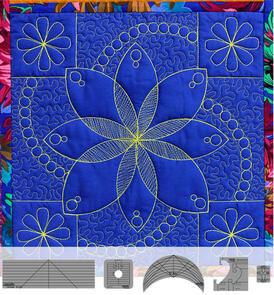 Westalee  Flower Power Block 6 piece Template Set