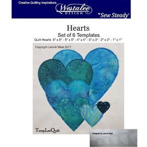 Westalee  - Hearts Template Set - High Shank