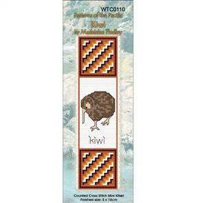 Lyn Manning  Cross Stitch Kit Bookmark - Kiwi