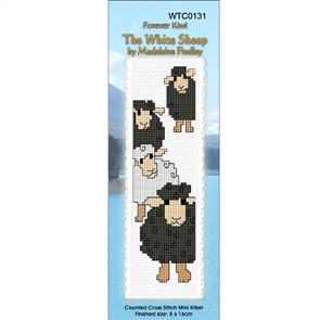 Lyn Manning  Cross Stitch Kit Bookmark - The White Sheep