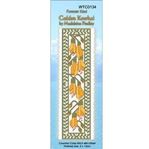 Lyn Manning  Cross Stitch Kit Bookmark - Golden Kowhai
