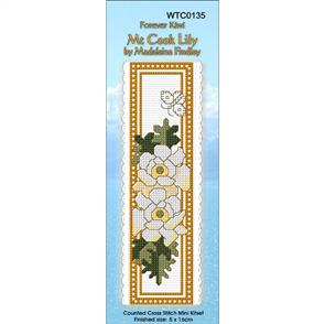 Lyn Manning  Bookmark Cross Stitch Kit - Mt Cook Lily