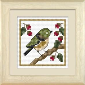 Lyn Manning  New Zealand Birds - Tauhou the Waxeye - Cross Stitch Kit