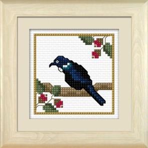 Lyn Manning  New Zealand Birds - Tui, the Parson's Bird - Cross Stitch Kit