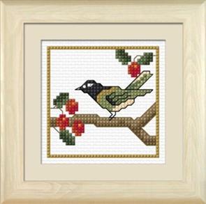 Lyn Manning  New Zealand Birds - Hihi The Stitchbird - Cross Stitch Kit
